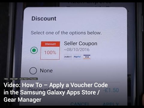 How to Apply a Voucher Code in the Samsung Galaxy Apps Store for your Galaxy Watch