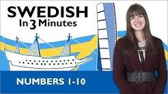 Learn Swedish - Swedish in Three Minutes - Numbers 1-10
