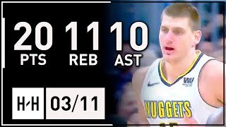 Nikola Jokic Triple-Double Full Highlights vs Kings (2018.03.11) - 20 Pts, 11 Reb, 10 Assists!