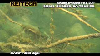 swing impact fat 2 8 small rubber jig trailer