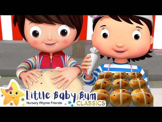 Hot Cross Buns Song + More Nursery Rhymes & Kids Songs - Little Baby Bum