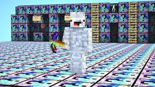 die ganze Base besteht aus Mixed Lucky Blöcken.. Minecraft LUCKY BLOCK BEDWARS