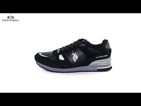 Ανδρικά Παπούτσια Casual U.S Polo Assn Wilde Black Suede - YouTube 246b56bbc39