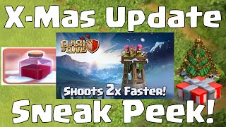 Clash Of Clans NEW ARCHER TOWER | Faster Stronger Changes | NEW Christmas Update 2014 Sneak Peek #3