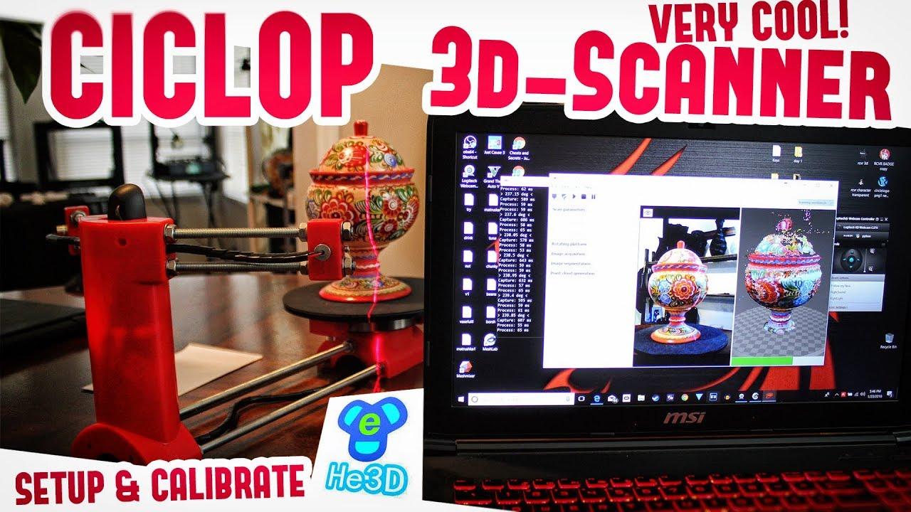 ✔ CICLOP 3D-Scanner Laser Calibration Setup & Review w/Multiple Tests!