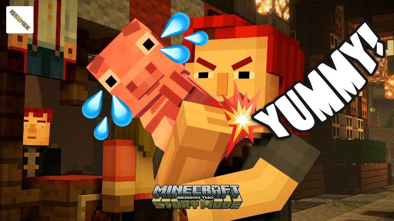 Romeo Eating Reuben Minecraft Story Mode Season 2