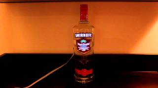 light up bottle label