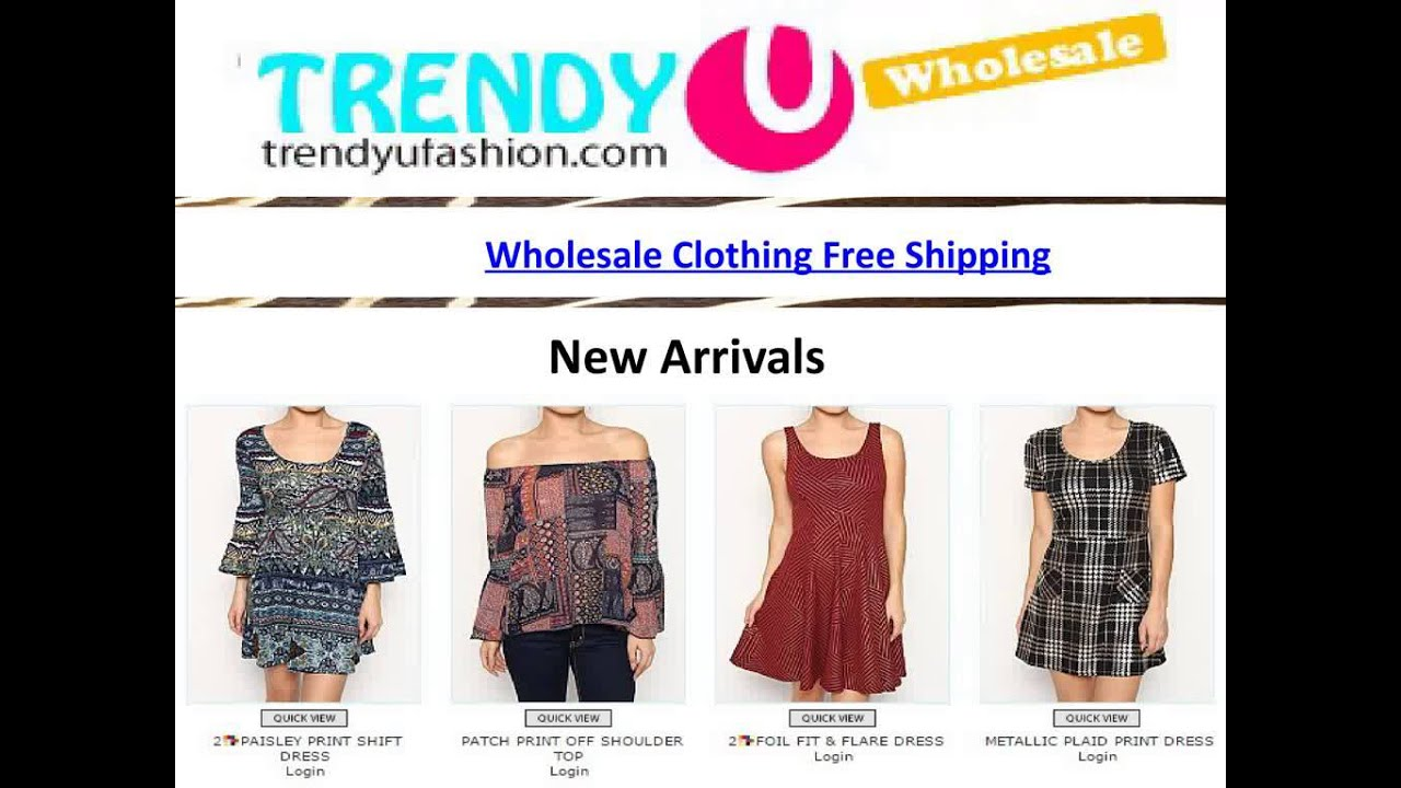 wholesale clothing free shipping