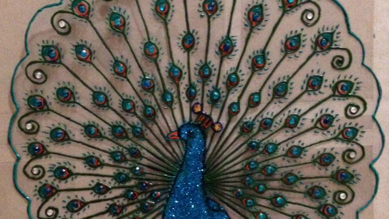 How To Create A Beautiful Plastic Peacock Design Diy