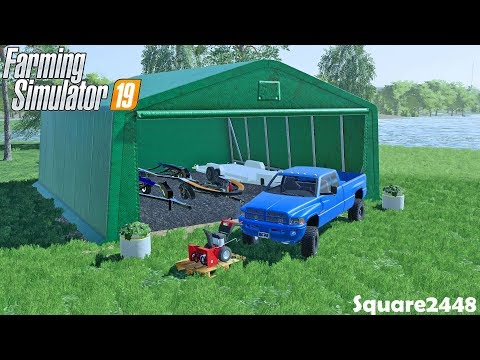 Buying Tent For Boat Trailers | New Snow Blower | Lake House | Homeowner | Farming Simulator 19