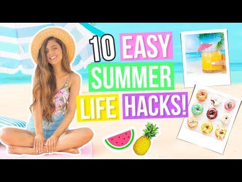 10 DIY Summer Life Hacks EVERYONE Should Know!