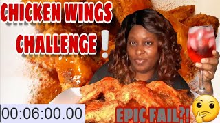 CHICKEN WINGS CHALLENGE/6 WHOLE CHICKEN WINGS IN SIX MINUTES