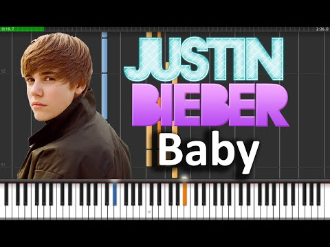 Justin Bieber - Baby Piano Tutorial  (Synthesia + Sheets + MIDI)
