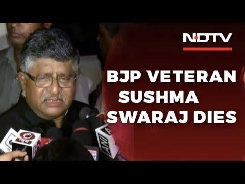 'Shattered': Ravi Shankar Prasad Condoles Sushma Swaraj's Death