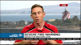 Severe fire warning issued for Western Cape