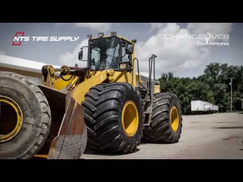 Wide Flotation Tires on Payloader