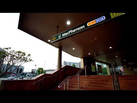Singapore morning MRT ride from Botanic Gardens to MacPherson train station (2 of 2)