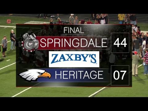Springdale Bulldog Football | SHS vs Rogers Heritage