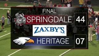 Springdale Bulldog Football   SHS vs Rogers Heritage