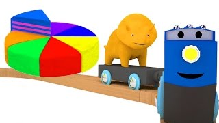 Regenbogen Lerne Farben mit Dino dem Dinosaurier & Regenbogenkuchen | Lehrreiche Cartoons für Kinder