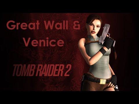 Tomb Raider II Walkthrough - Great Wall & Venice [All Secrets][Widescreen][PC]