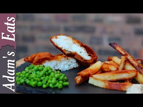 Beer Battered British Fish & Chips Recipe | How To Make Homemade Fish & Chips