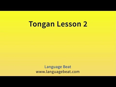 Learn Tongan :  Lessons 2 - 9 for Beginners
