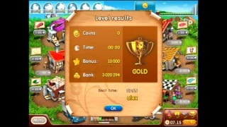 Farm frenzy 2 only GOLD (level 89) Costume street 7 Веселая ферма 2 Костюмная 7 (уровень 89) Золото