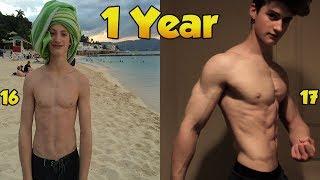 Max Sorenson 1 Year Natural Transformation   Skinny To Muscular (16-17)
