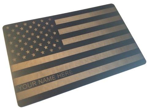 Premium Custom Engraved Metal Credit Card: Starwars