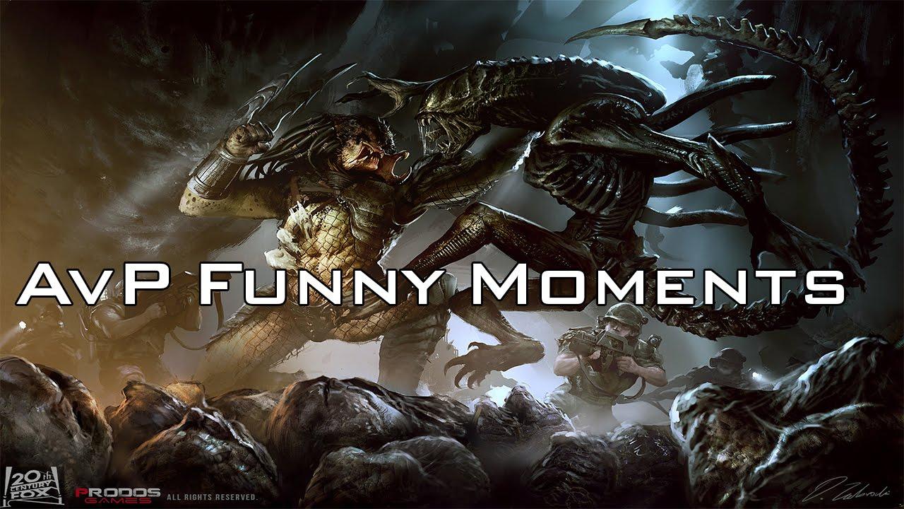 Alien Vs Predator Funny Moments - YouTube