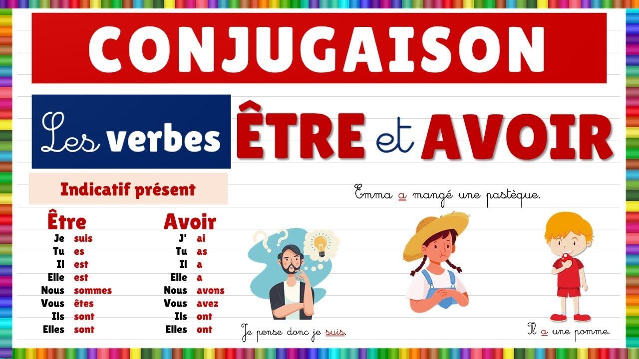 Conjugaison Les Verbes Etre Et Avoir Youtube