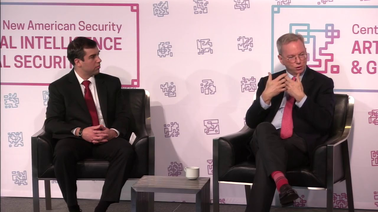 Eric Schmidt Keynote Address at the Center for a New American