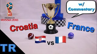 World Cup Final Marble Race: France vs Croatia - Toy Racing
