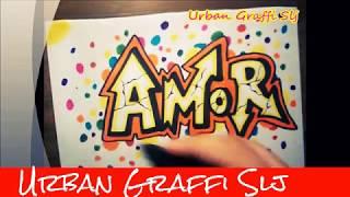 como dibujar graffitis de amor | how to draw love in graffiti