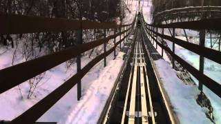 Alpine Coaster Roller Coaster in the Snow Front Seat POV Park City, Utah