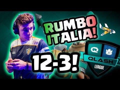 NOS VAMOS CLASIFICADOS A ITALIA!!! 12/3 EN QLASH LEAGUE!! - Soking - Clash Royale.