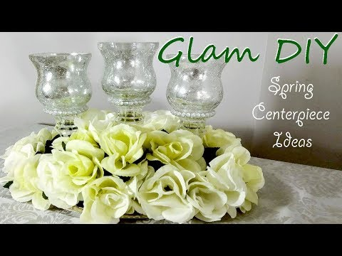 DIY Dollar Tree Glam Spring Centerpiece Ideas
