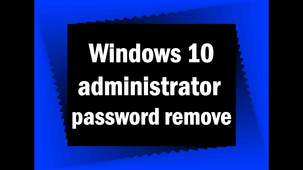 How to remove administrator password in windows 10 | Bangla tutorial