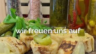 Raclette Crêpe Roll & Raclette Roll mit Nüsslisalat & Bacon