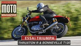 Triumph Thruxton R - Triumph Bonneville T120 - Motos Pour Gentlemen Riders (Essai Motomag)