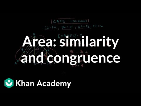 Finding area using similarity and congruence | Similarity | Geometry | Khan Academy