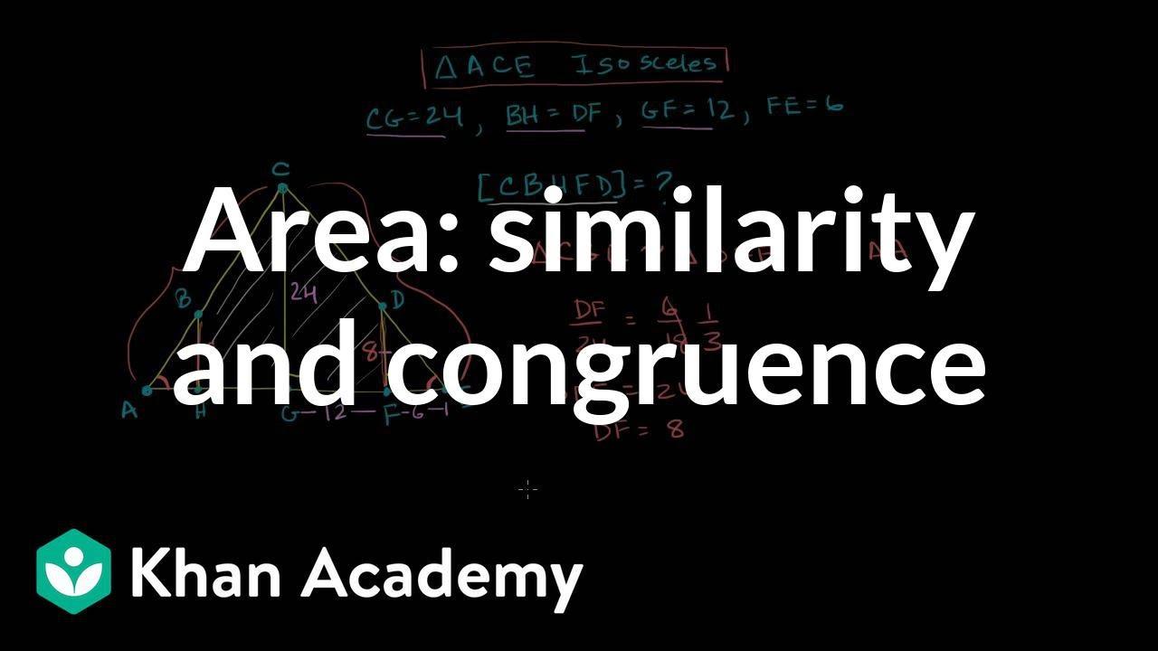 Using similar & congruent triangles (video) | Khan Academy