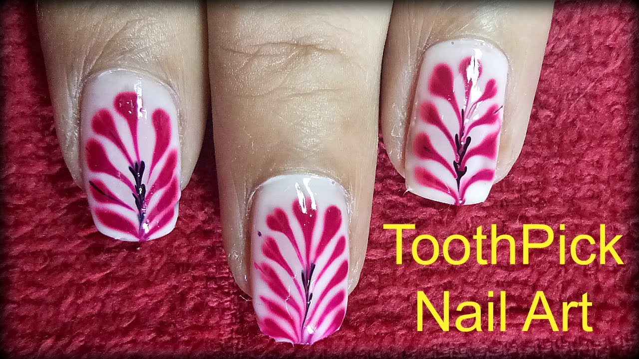 Nail Art Tutorial Nail Designs Using Toothpick And Dotting Tools