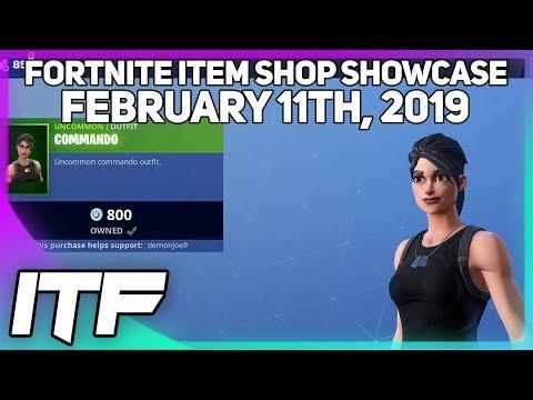 Fortnite Item Shop COMMANDO IS BACK! [February 11th, 2019] (Fortnite Battle Royale)