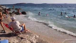 Pláž kempu Adriatic u Primoštenu