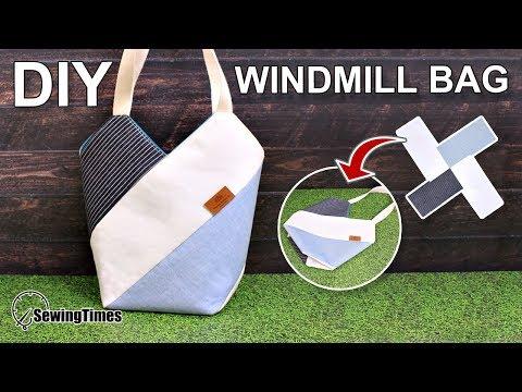 DIY WINDMILL TOTE BAG 에코백만들기   Shoulder bag Easy Sewing Tutorial [sewingtimes]