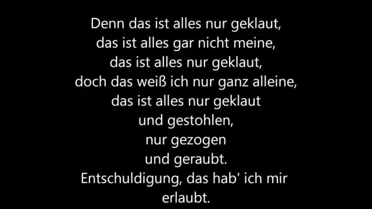 Die Prinzen 'Deutschland' and 'Millionär' German Lyrics