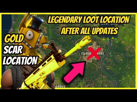 SCAR LOCATION! HOW TO GET A SCAR EVERY TIME in FORTNITE BATTLE ROYALE! ALL CHEST LOCATIONS