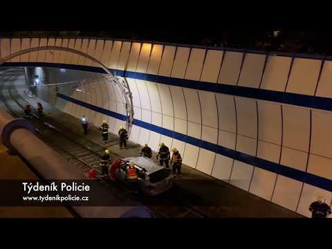 Pijany Polak w tramwajowym tunelu w Pradze
